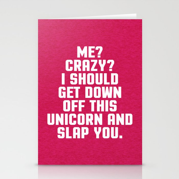 Down Off This Unicorn Funny Quote Stationery Cards