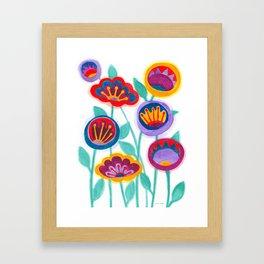 raw flower garden Framed Art Print