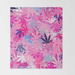 Marijuana Cannabis Weed Pot Throw Blanket