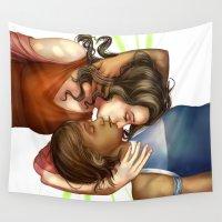 korra Wall Tapestries featuring Korrasami by laya rose
