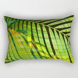 TROPICAL GREENERY LEAVES no1b Rectangular Pillow