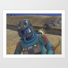 Ancient Eskimo Astronaut Art Print