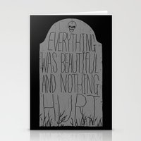 vonnegut Stationery Cards featuring slaughterhouse V - everything was beautiful - vonnegut by miles to go
