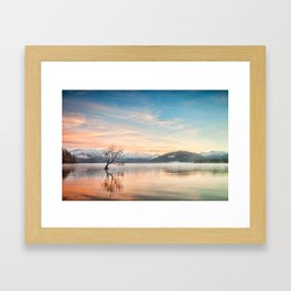 Lake Wanaka, Otago, New Zealand Framed Art Print