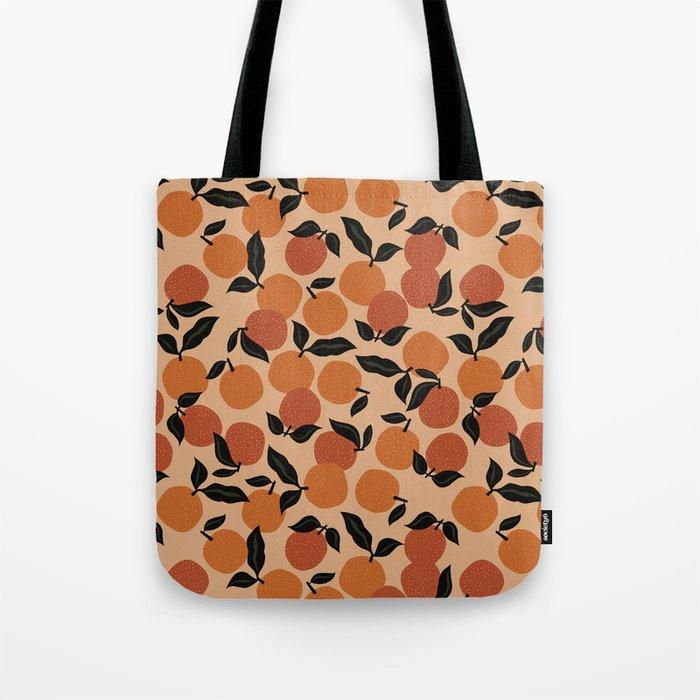 Seamless Citrus Pattern / Oranges Tote Bag