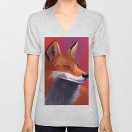 Fox Painting Unisex V-Neck