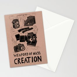 Weapons Of Mass Creation - Photography (blk on brown) Stationery Cards
