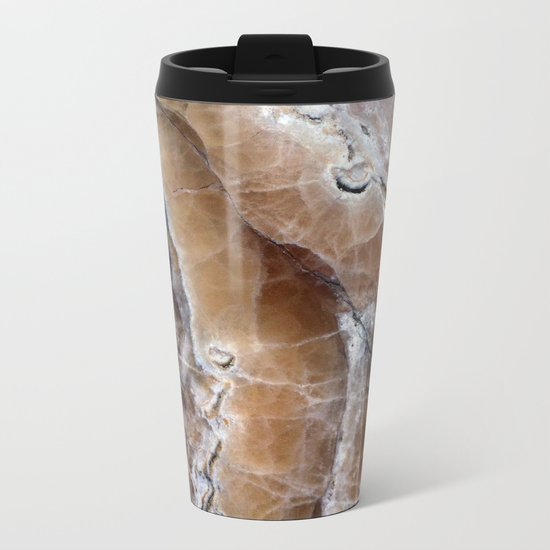 Marble Paint Formation Metal Travel Mug