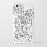 cafe racer iPhone & iPod Cases featuring NORTON COMMANDO 961 CAFE RACER 2011 by Larsson Stevensem