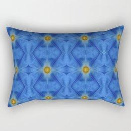 Divine Diamond Morning Glory Blues Rectangular Pillow