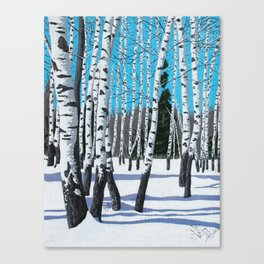 Winter Birches Canvas Print