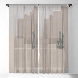 Minimal Stairs Sheer Curtain