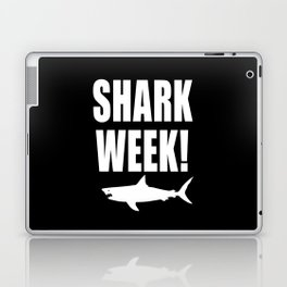 Shark Week, white text on black Laptop & iPad Skin