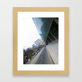 the city lines  Framed Art Print