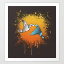 Flightless birds Art Print