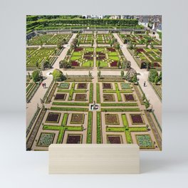 The Gardens at Chateau Villandry in France Mini Art Print