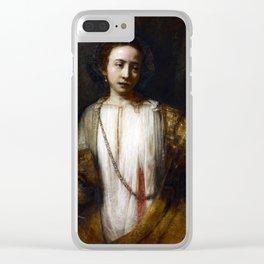 Rembrandt van Rijn Lucretia Clear iPhone Case