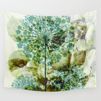 dandelion Wall Tapestries featuring dandelion by clemm