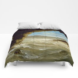 "Eugène Delacroix ""Shipwreck on the Coast"" Comforters"