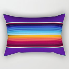 Traditional Mexican Serape in Purple Rectangular Pillow