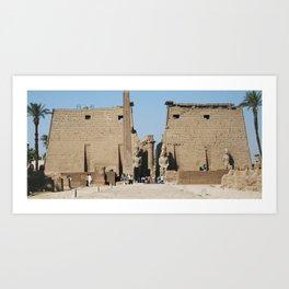 Temple of Luxor, no. 12 Art Print