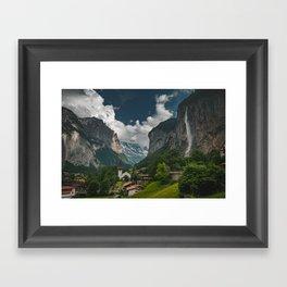 Lauterbrunnen Valley Framed Art Print
