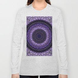 Purple Tapestry Mandala Long Sleeve T-shirt