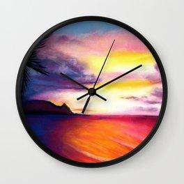 Hanalei Sunset Wall Clock