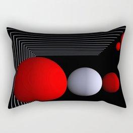 red white black -16- Rectangular Pillow