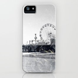 Frosted Santa Monica Pier iPhone Case