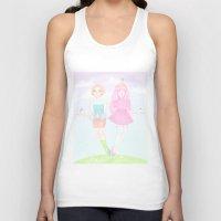princess bubblegum Tank Tops featuring Pearl & Princess Bubblegum by Siri