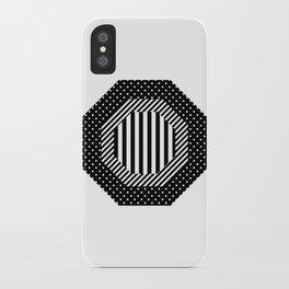 Geometric - Hexagon, Black Mixed Pattern 2 iPhone Case