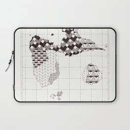Guadeloupe carte graphic design Laptop Sleeve