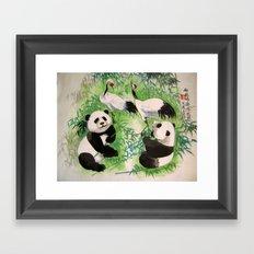 bamboo orchestra Framed Art Print