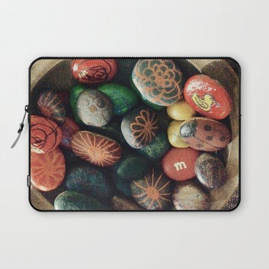 Rock art in ceramic bowl Laptop Sleeve