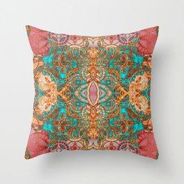 Pretty Boujee Boho Mandala Throw Pillow