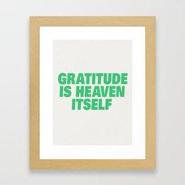 Gratitude Framed Art Print