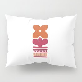 Nordic Orange Flower Pillow Sham