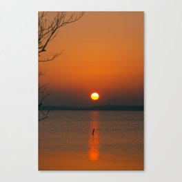 """""""Only"""" the evening sun on the water Canvas Print"""