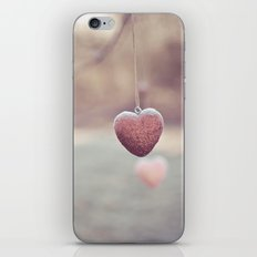 Frosted Hearts iPhone & iPod Skin