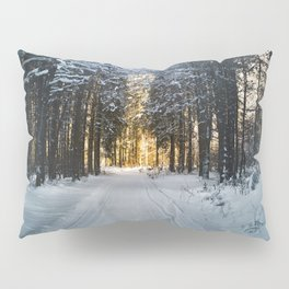 Snow Covered Trees Pillow Sham