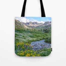 AMERICAN BASIN COLORADO MOUNTAIN SUMMER LANDSCAPE PHOTOGRAPHY Tote Bag