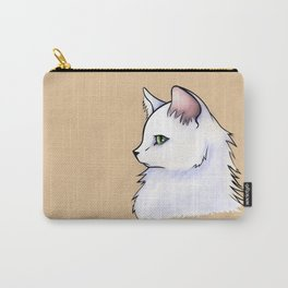 Cat Study: White Fluff Carry-All Pouch