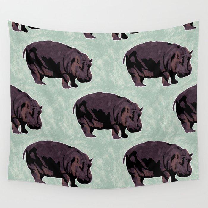 Hippopotamus Wall Tapestry
