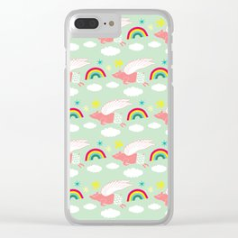 Pigs Can Fly! Clear iPhone Case