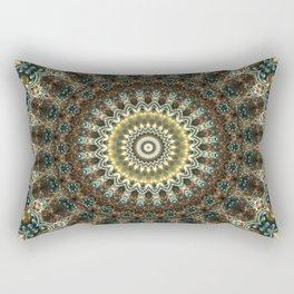 Gorgeous Earth Jewel Mandala Rectangular Pillow