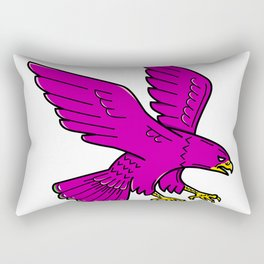 Peregrine Falcon Swoop Mono Line Rectangular Pillow