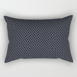 Black and white wavy lines Rectangular Pillow