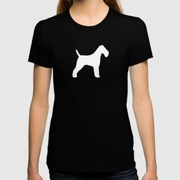 White Wire Fox Terrier Silhouette(s) T-shirt