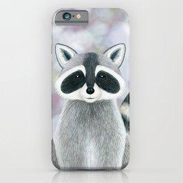 raccoon woodland animal portrait iPhone Case